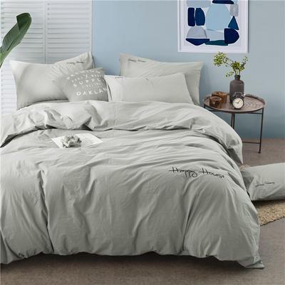 年全棉水洗棉纯色系三件套 1.0m(3.3英尺)床 094(灰)