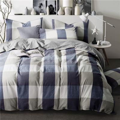 年全棉水洗棉纯色系三件套 1.0m(3.3英尺)床 087(丈兰大格-灰驼)