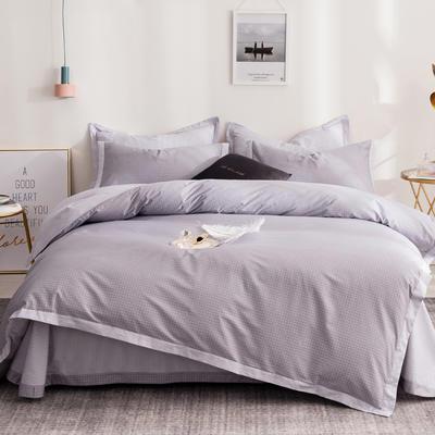 13372拼角工艺时尚款四件套 1.5m(5英尺)床 小资情调-灰