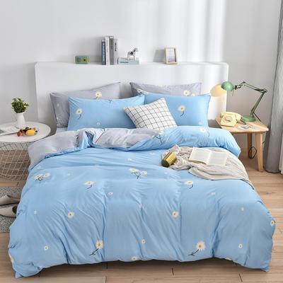2020新款-超柔莱卡针织棉四件套 床单款四件套1.5m(5英尺)床 花语兰-灰