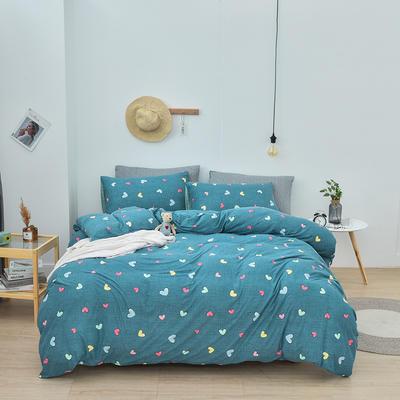 2020新款-超柔莱卡针织棉四件套 床单款四件套1.5m(5英尺)床 晴语-兰