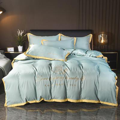 2020新款水洗真丝四件套 1.5m(5英尺)床 艾琳-水绿