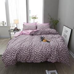 2018贝扬思美棉四件套 2.2m(7英尺)床 粉色豹纹