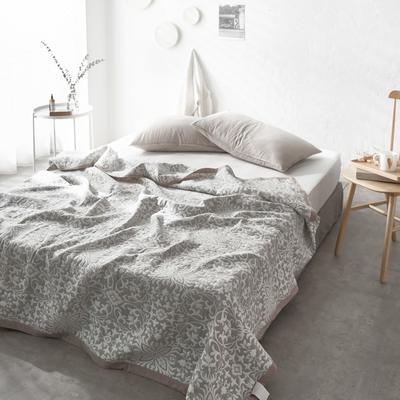 60支水洗棉色织提花空气层夏被盖毯 200cm*230cm 欧典灰