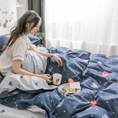 小米家居2018秋冬暖心治愈系四件套 1.5m床(床单款) 红桃心