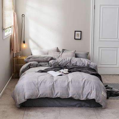 2018新款秋冬经典格致棉加水晶绒系列 1.5m(5英尺)床(床单款) 安迪
