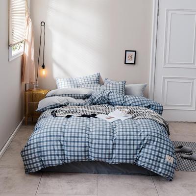 2018新款秋冬经典格致棉加水晶绒系列 1.5m(5英尺)床(床单款) 亨利