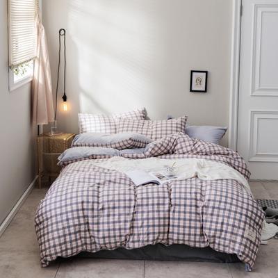 2018新款秋冬经典格致棉加水晶绒系列 1.5m(5英尺)床(床单款) 乔治