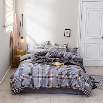 2018新款秋冬经典格致棉加水晶绒系列 1.5m(5英尺)床(床单款) 威廉
