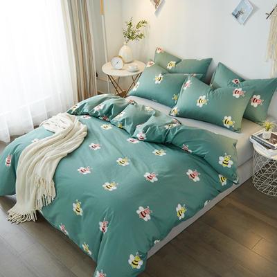 2019新款全棉印花四件套 1.5m(5英尺)床 小蜜蜂