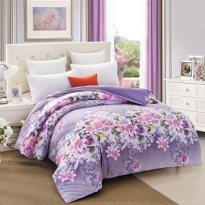 12868被套 110x150cm 爱的花海紫