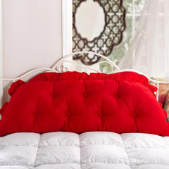 【帅露家纺】——床头大靠背老款不可脱卸 40X40cm 大红