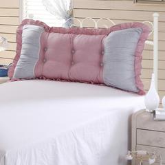 【帅露家纺】——床头大靠背老款不可脱卸 40X40cm 公主泡泡-粉灰