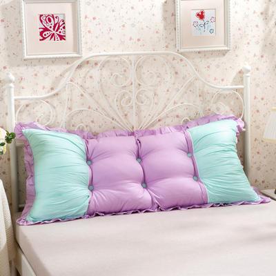 床头大靠背新款可脱卸 1m 公主泡泡紫绿
