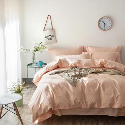 缎条四件套 标准床单式 玉色