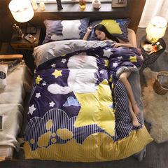 雕花绒四件套(平网) 标准(1.5m床-1.8m床) 晚安