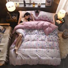 雕花绒四件套(圆网) 标准(1.5m床-1.8m床) 月光之恋-粉