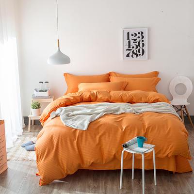 缎条四件套 1.5*1.8m床 橘黄