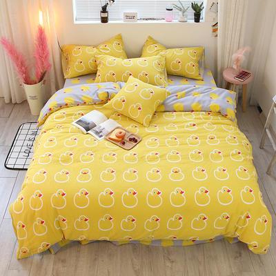 简约小清新双层纱系列四件套 1.35m床及以下/床单款 鸭子