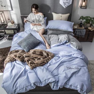 2018原创轻奢保暖棉绒四件套 1.5m床单款 奥格斯-湛蓝