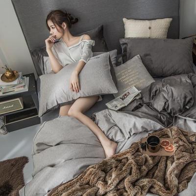 2018原创轻奢保暖棉绒四件套 1.5m床单款 凯萨-卡其