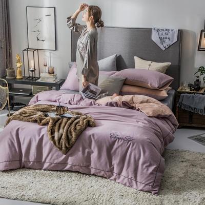 2018原创轻奢保暖棉绒四件套 1.8m床单款 怡情-豆沙