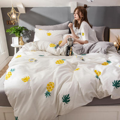 2019新款ins风四件套 1.2m(4英尺)床(床单款) 菠萝蜜