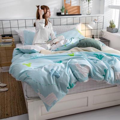 2019新款ins风四件套 1.2m(4英尺)床(床单款) 绿洲