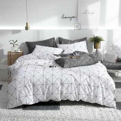 2019新款ins风四件套 1.5m(5英尺)床(床单款) 威廉-白