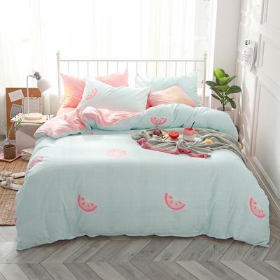2019新款ins风四件套 1.5m(5英尺)床(床单款) 西柚