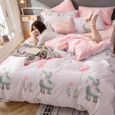 2019新款ins风四件套 1.5m(5英尺)床(床单款) 羊咩咩