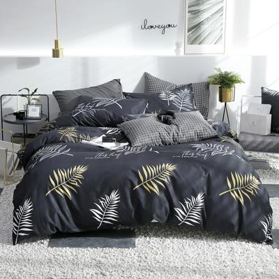 2019新款ins风四件套 1.2m(4英尺)床(床单款) 约翰-深灰
