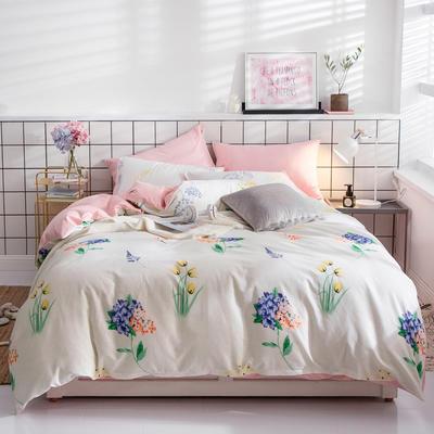 2019新款ins风四件套 1.2m(4英尺)床(床单款) 紫藤