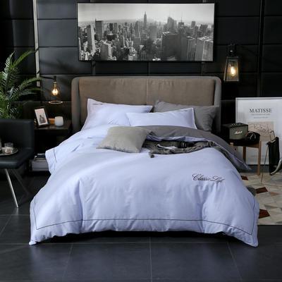 2019新款简约刺绣全棉四件套 1.5m(5英尺)床单款 奥格斯