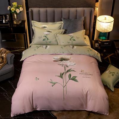 2019新款全棉磨毛四件套 1.5m(5英尺)床单款 蓓蕾-粉