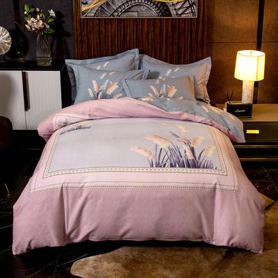 2019新款全棉磨毛四件套 1.5m(5英尺)床单款 罗茜