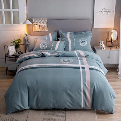 2019新款全棉磨毛四件套 1.5m(5英尺)床单款 莫拉