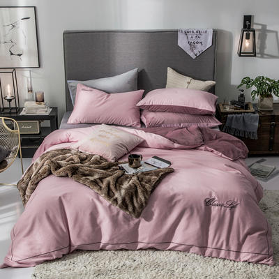 2019新款原创轻奢保暖棉绒水晶绒四件套 1.5m(5英尺)床单款 朵唯-玉