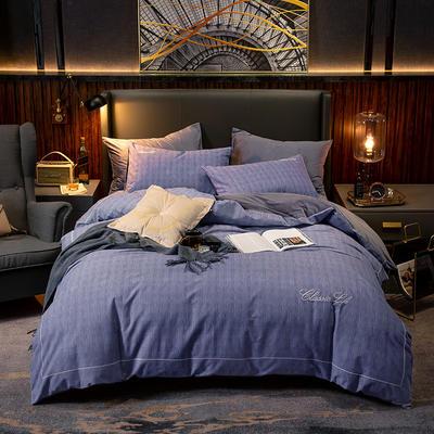 2019新款原创轻奢保暖棉绒水晶绒四件套 1.5m(5英尺)床单款 罗兰紫