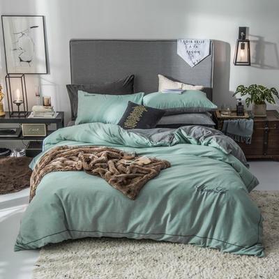 2019新款原创轻奢保暖棉绒水晶绒四件套 1.5m(5英尺)床单款 洛蓝
