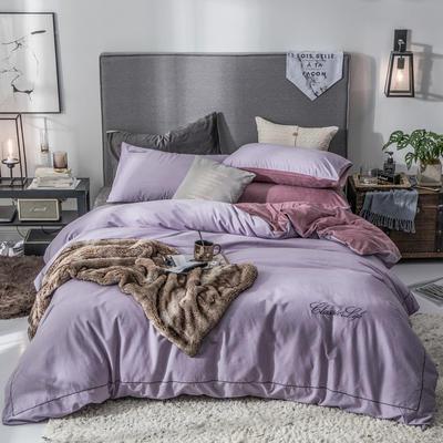 2019新款原创轻奢保暖棉绒水晶绒四件套 1.5m(5英尺)床单款 魅惑-紫
