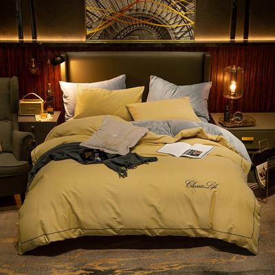2019新款原创轻奢保暖棉绒水晶绒四件套 1.5m(5英尺)床单款 奇遇-黄
