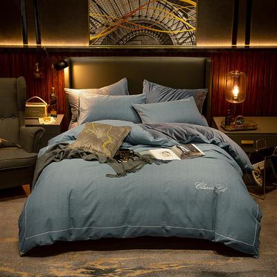 2019新款原创轻奢保暖棉绒水晶绒四件套 1.5m(5英尺)床单款 清雅-贵族绿