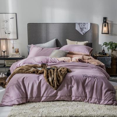 2019新款原创轻奢保暖棉绒水晶绒四件套 1.5m(5英尺)床单款 怡情-豆沙