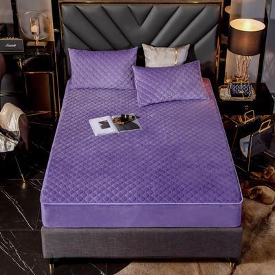 水晶绒夹棉床笠 单床笠:180x200cm+25cm 罗兰紫