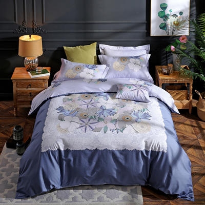 2021新款13372平网时尚花卉系列四件套 1.8m床单款四件套 艾美