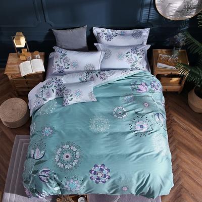 2021新款13372平网时尚花卉系列四件套 1.8m床单款四件套 卡娜