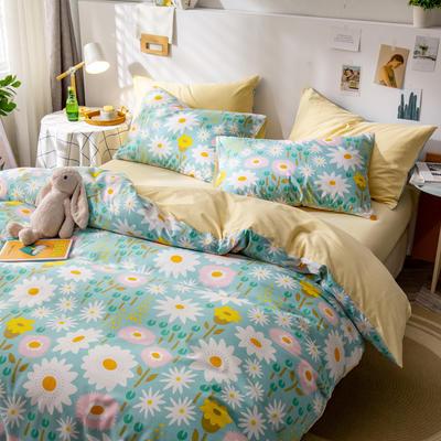 全棉-ins清新治愈系列四件套 床单款四件套1.5m(5英尺)床 花开那年