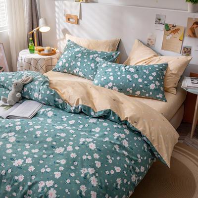 全棉-ins清新治愈系列四件套 床单款四件套1.5m(5英尺)床 花魅