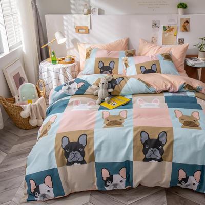 全棉-ins清新治愈系列四件套 床单款四件套1.5m(5英尺)床 狂欢派对